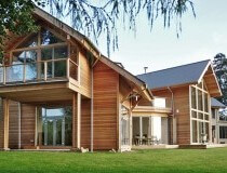 Residential timber frame house