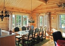 Timber log house interior