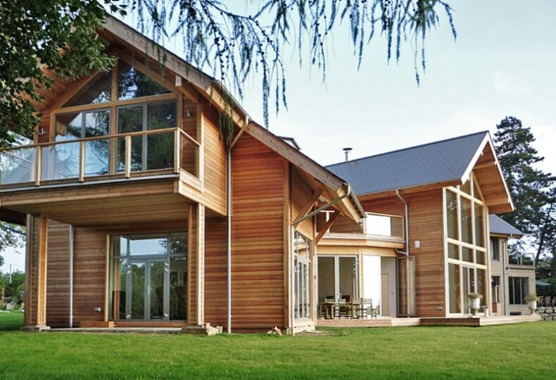 Examples modern timber houses for Contemporary timber homes